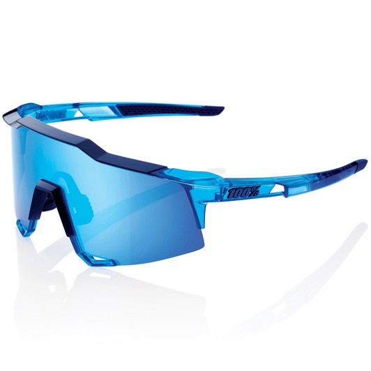 8bb009811b 100% Speedcraft Translucent Sunglasses with HiPER Blue Mirror Lens ...