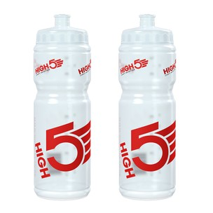 High5 Clear Water Bottle 750ml Bundle (2 Bottles)