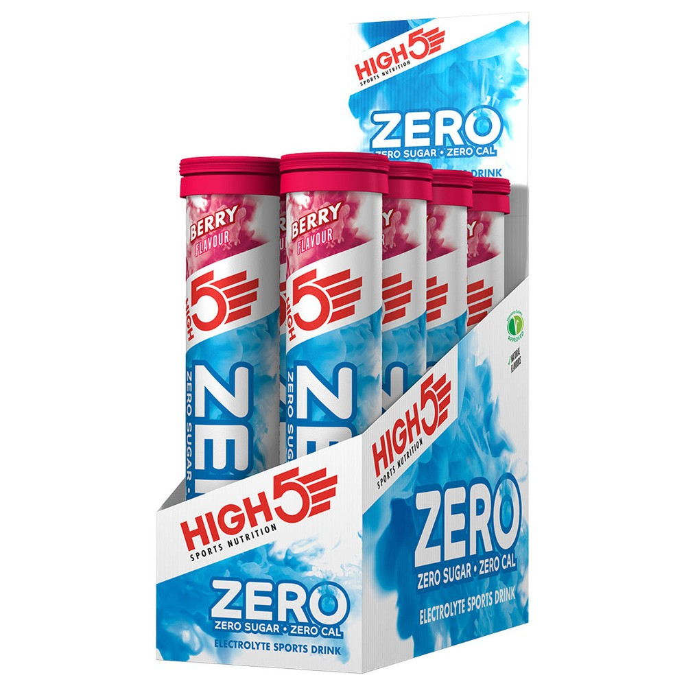 High5 Zero Electrolyte Tablets Box Of 8 Tubes X 20 Tablets