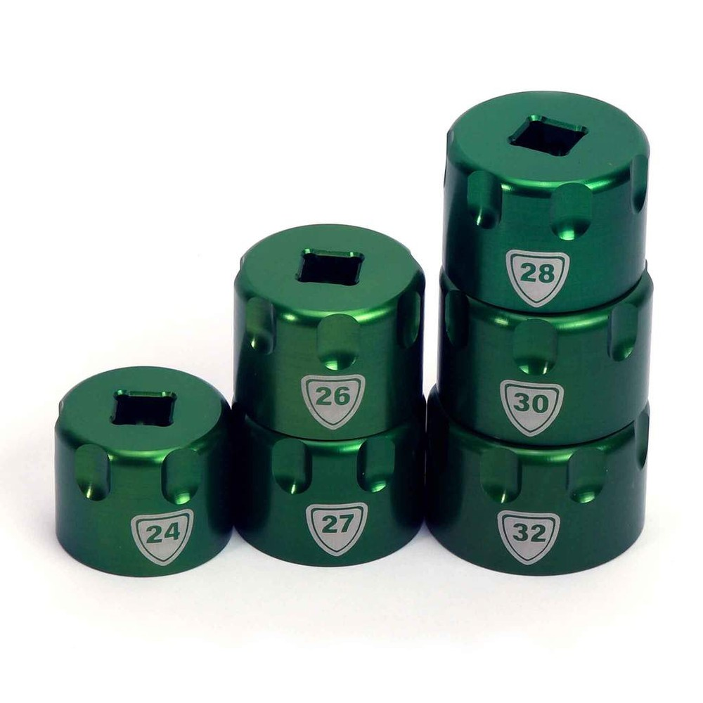 Abbey Bike Tools Suspension Top Cap Sockets - Set Of 6