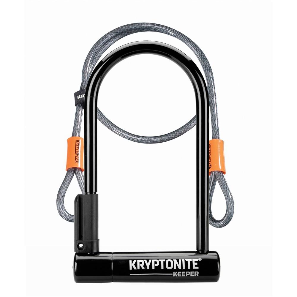 Kryptonite Keeper 12 Standard + Flex Sold Secure Silver