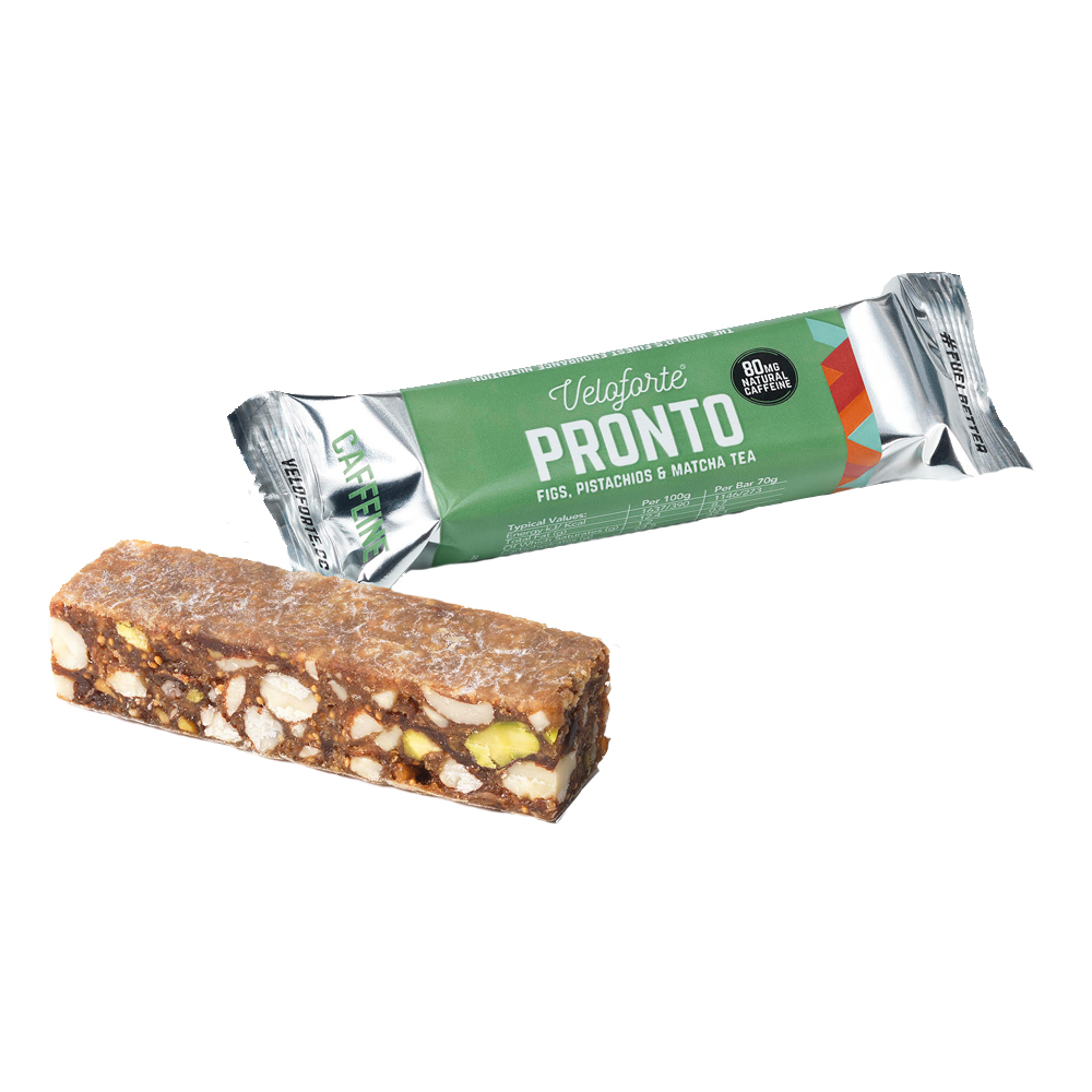 Veloforte Pronto Natural Energy Bar With Caffeine Box Of 15 X 70g
