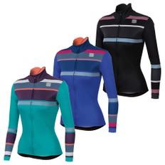 Sportful Stripes Womens Thermal Long Sleeve Jersey