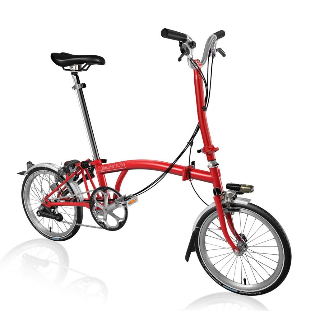 Brompton Steel H6L Folding Bike With Mudguards