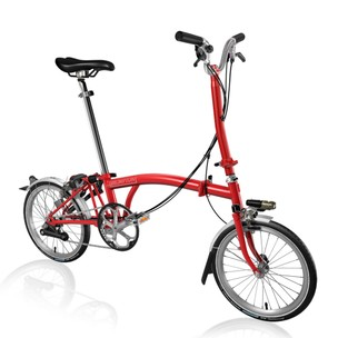 Brompton Steel H6L Folding Bike With Mudguards