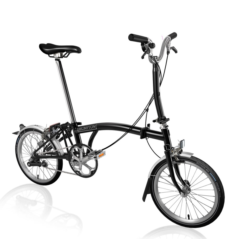 Brompton Steel M3L Folding Bike With Mudguards