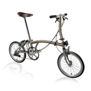 Brompton Steel/Titanium S2E Folding Bike With Front Carrier Block
