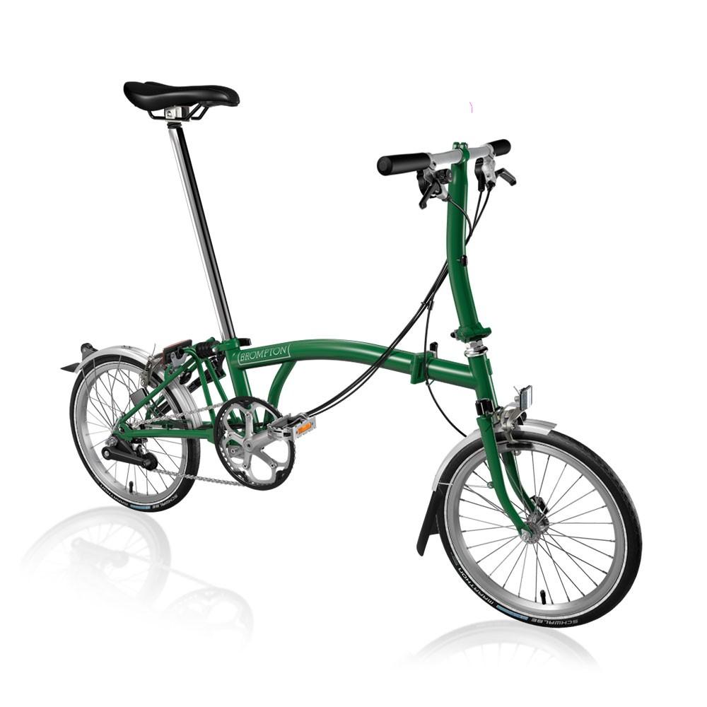 Brompton Steel S6L Folding Bike With Mudguards