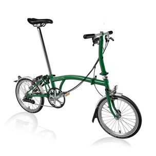 Brompton Steel S6L Folding Bike With Mudguards