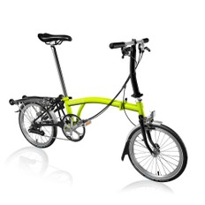 Brompton Steel S6R Folding Bike with Mudguards and Rack