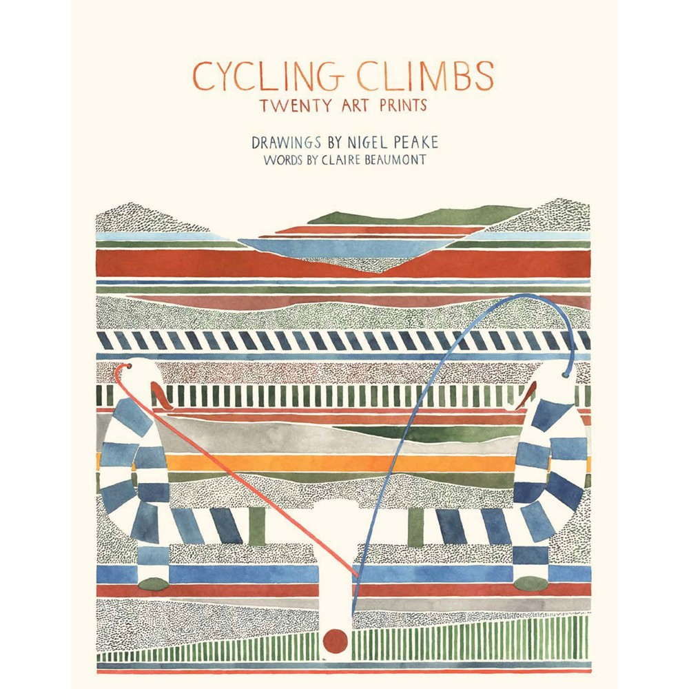 Claire Beaumont Cycling Climbs: Twenty Art Prints - Book