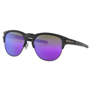 Oakley Latch Key Sunglasses With Violet Iridium Lens, Size 52