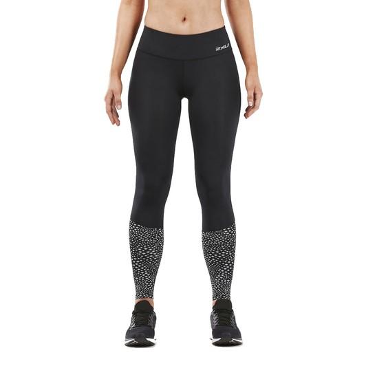 100% True 2xu Reflect Run Mens Compression Leggings Black 360 Visibility Running Tight Activewear