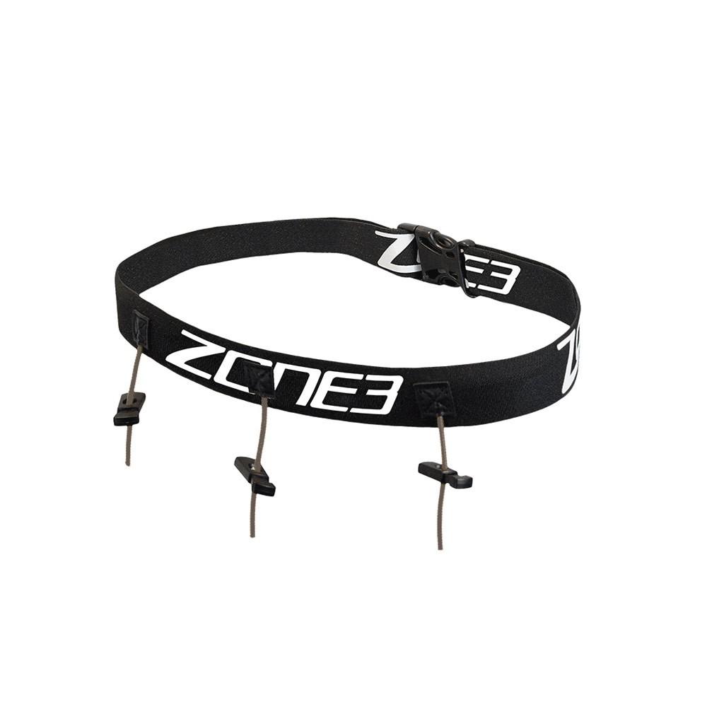Zone3 Triathlon Race Belt Black/White