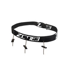 Zone3 Triathlon Race Belt Black/White