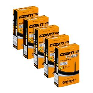 Continental Race 28 Inner Tube 700x18/25 60mm Presta Pack Of 5