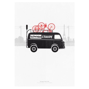 Hitting The Wall Caravan 1 - Broom Wagon Print