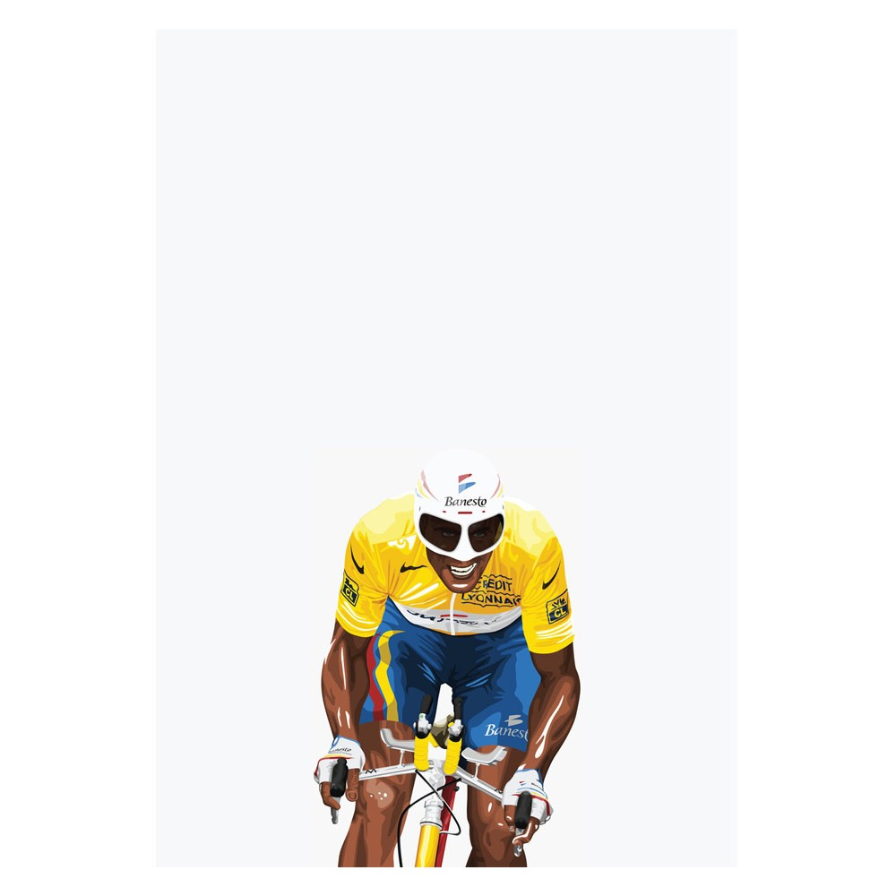 Hitting The Wall Kings Of Le Tour - Indurain Print
