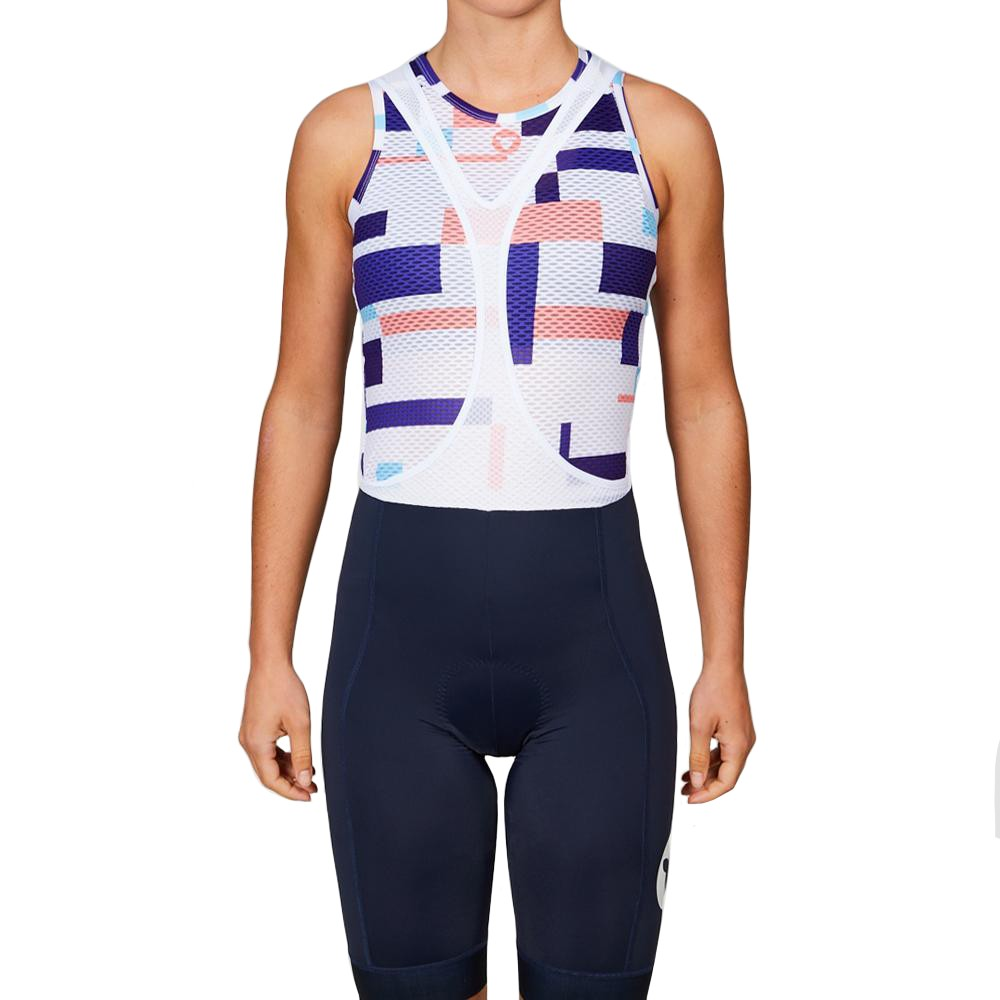 Black Sheep Cycling Team Collection 19 Stripe Womens Sleeveless Base Layer