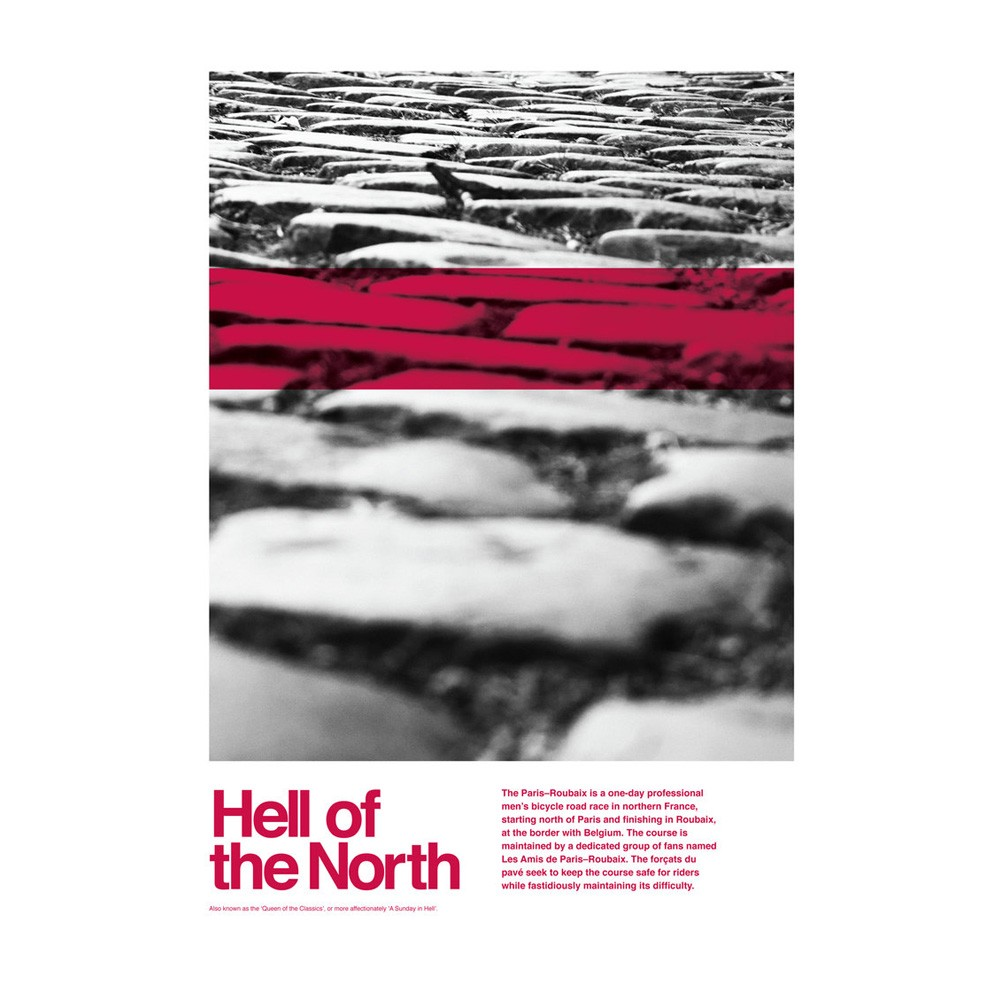 Hitting The Wall Hell Of The North | Graphic 1 Print