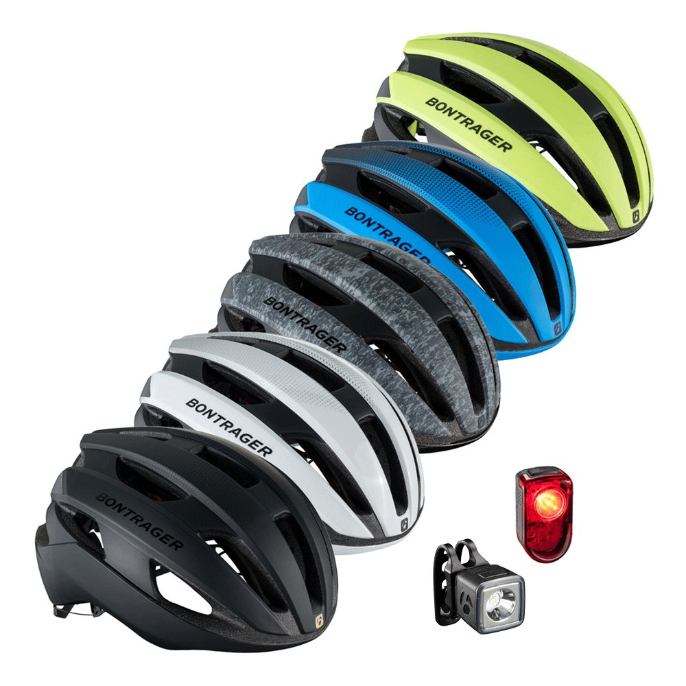 Bontrager Circuit MIPS Road Helmet And Lights Bundle