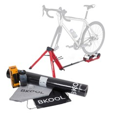 Feedback Sports Omnium Portable Bike Roller Trainer with Tote Bag + Accessory Pack