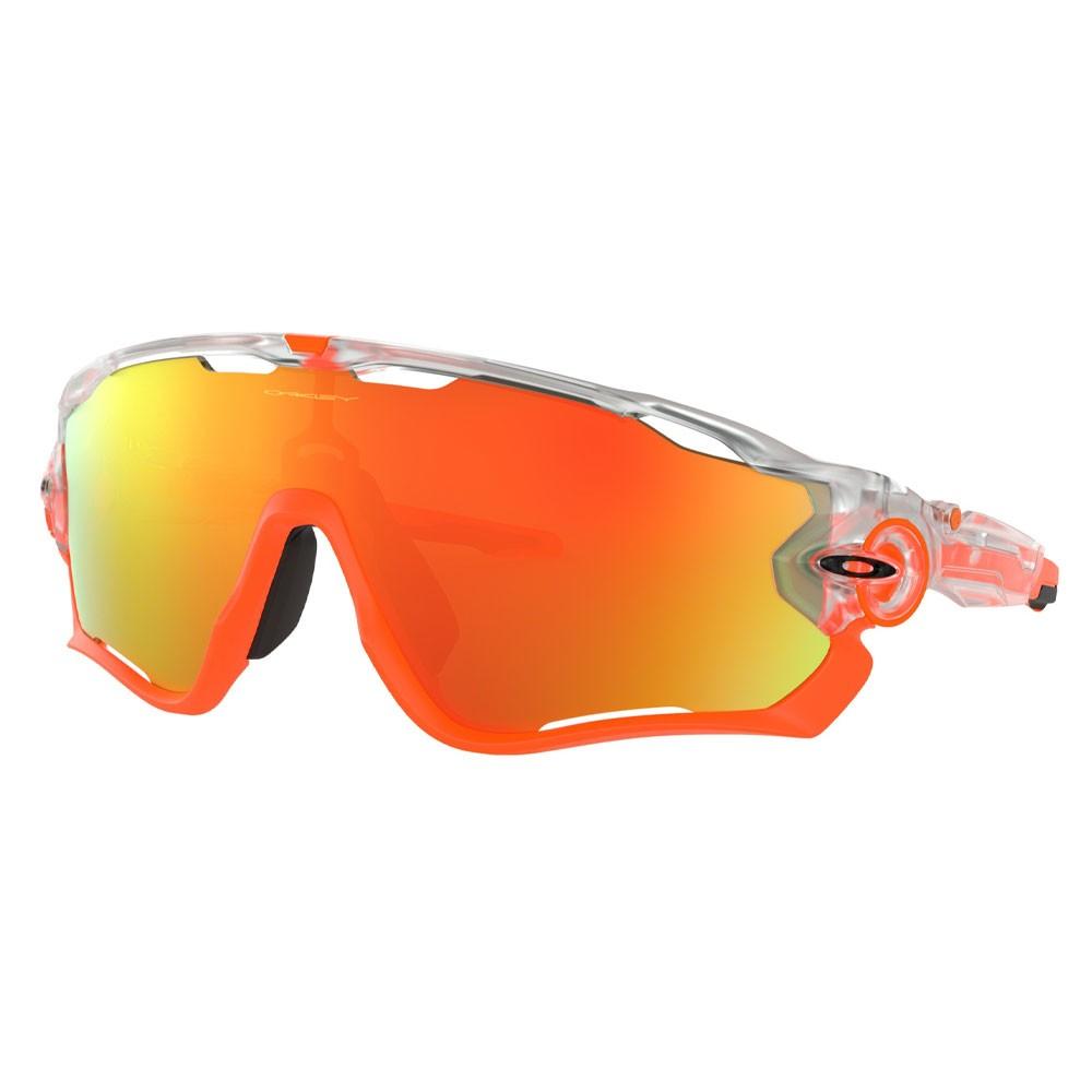 Oakley Jawbreaker Sunglasses With Crystal Pop Fire Iridium Lens