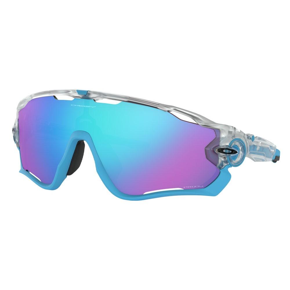 Oakley Jawbreaker Crystal Pop Sunglasses With Prizm Sapphire Lens