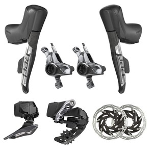 SRAM RED ETap AXS 2X Electronic Post Mount HRD Groupset
