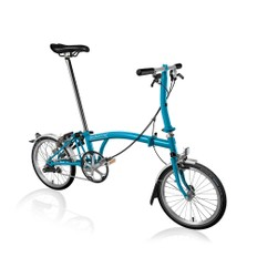 Brompton Steel S3L Folding Bike with Mudguards