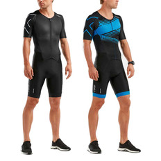 2XU Perform Short Sleeve Full Zip Trisuit