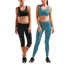 2XU XVENT Strappy Back Womens Crop Top