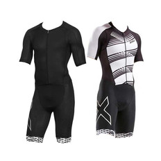 2XU Compression Short Sleeve Full Zip Trisuit