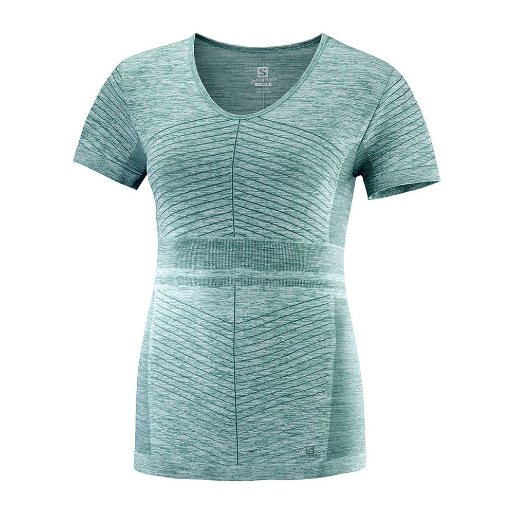 Salomon Elevate Move'On Womens Short Sleeve Run Top