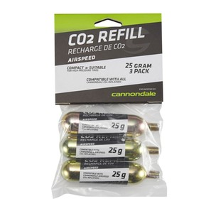 Cannondale Airspeed CO2 Threaded Cartridges 25g 3 Pack