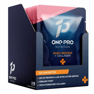 ONE PRO Nutrition Whey Protein With Collagen Sachet Box Of 10 X 35g