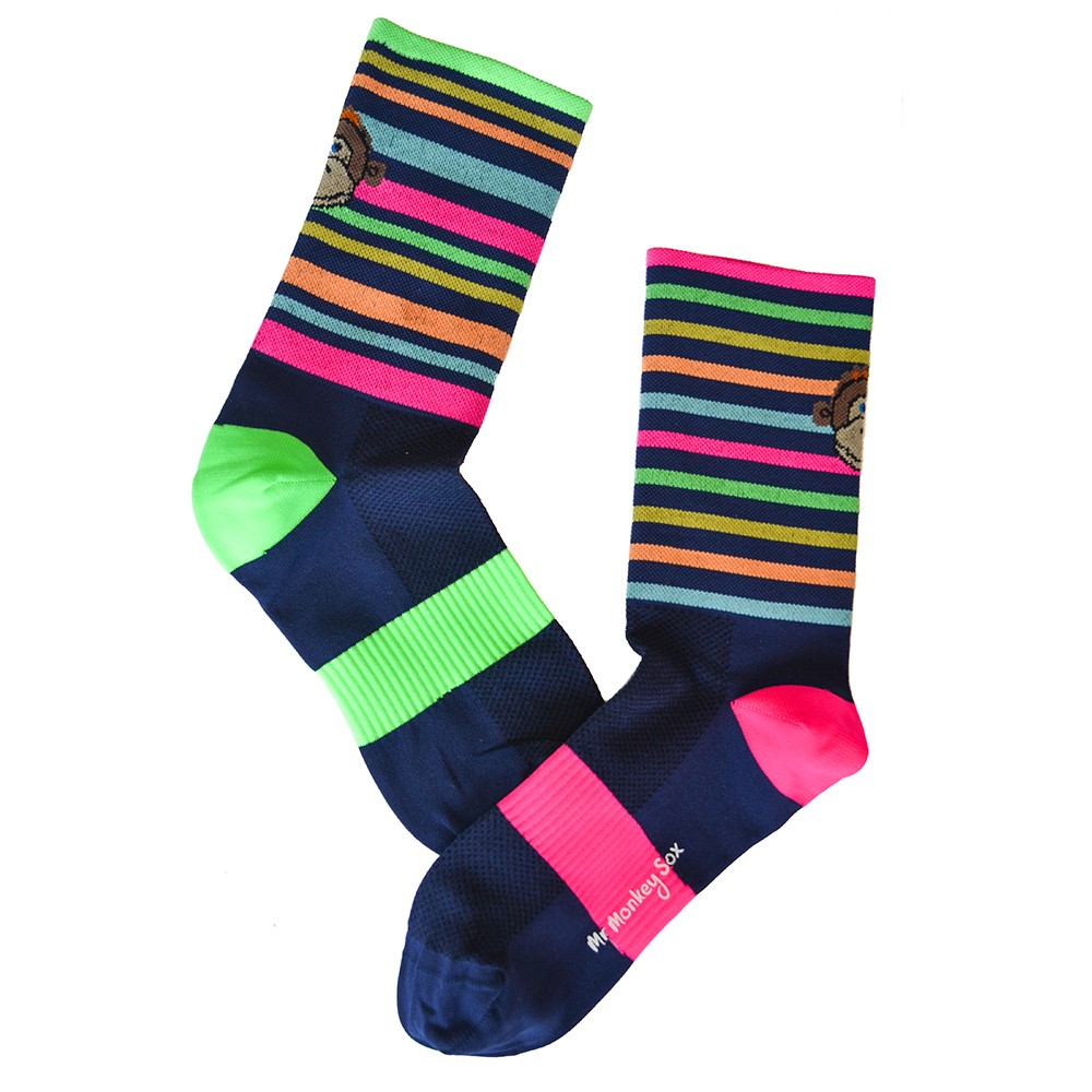 Monkey Sox Stripe Cycling Socks