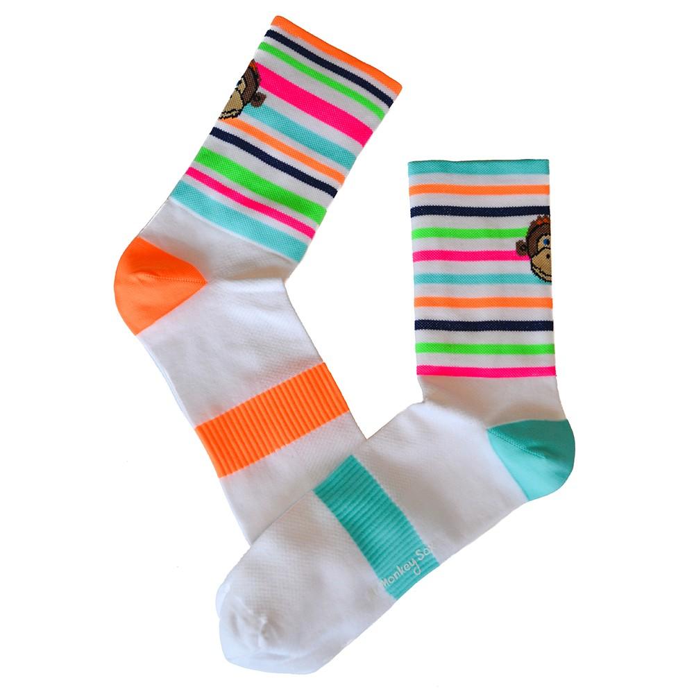 Monkey Sox Stripe Cycling Socks