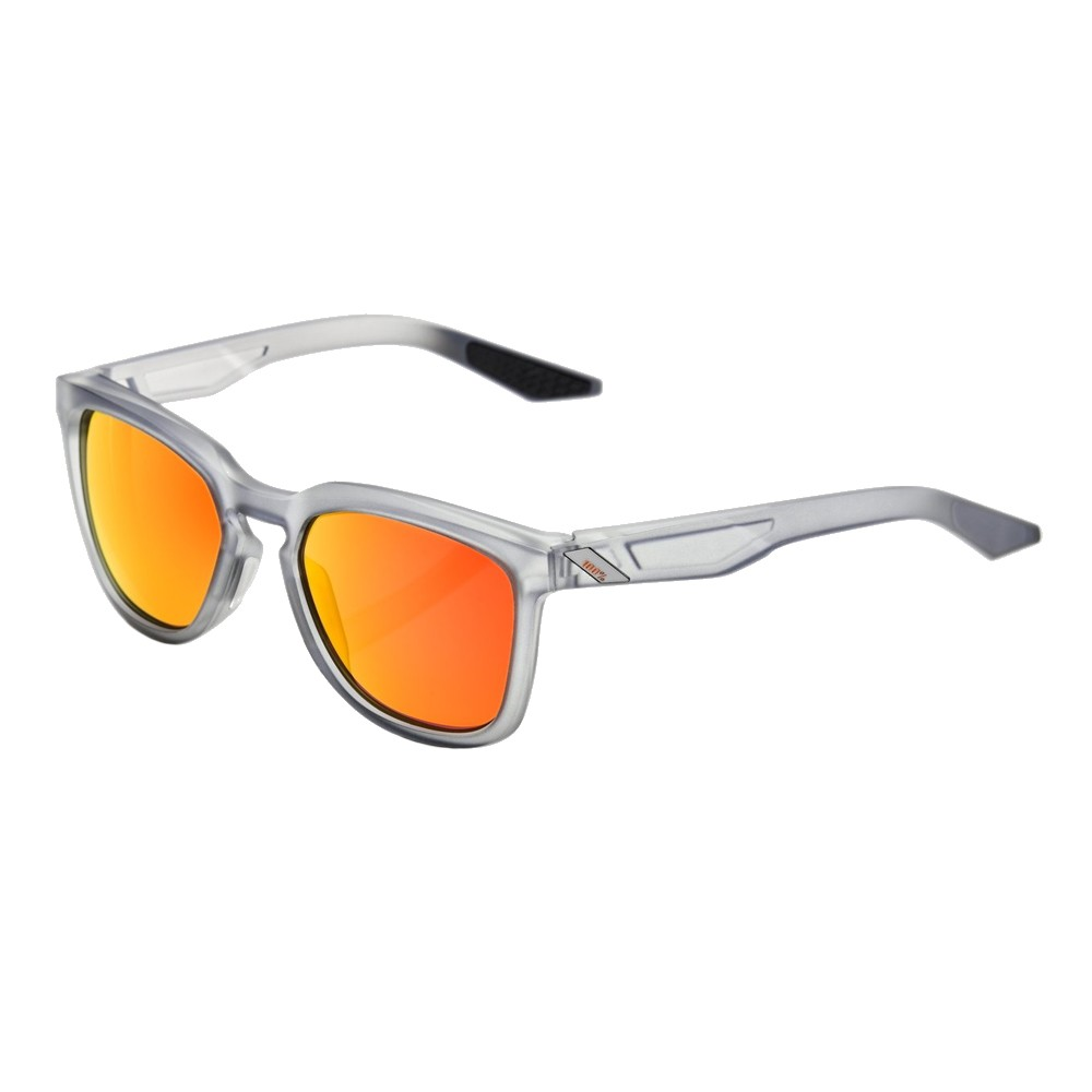100% Hudson Sunglasses With HiPER Red Mirror Lens