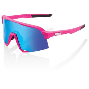 100% S3 Sunglasses With HiPER Blue Multilayer Mirror Lens