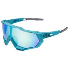 100% Speedtrap Sagan Limited Edition Sunglasses with Blue Topaz Mirror Lens