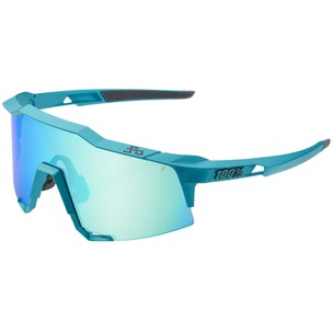 100% Speedcraft Sagan Limited Edition Sunglasses Blue Topaz Mirror Lens