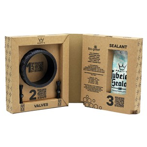 Peaty's Tubeless Conversion Kit 35mm Tape 40mm Valves And Sealant