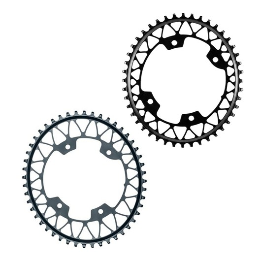 Absolute Black 46t 110BCD Asymmetric Gravel 1X Oval Chainring