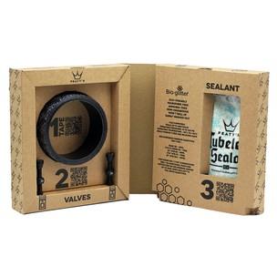 Peaty's Tubeless Conversion Kit 21mm Tape 60mm Valves 1x Sealant