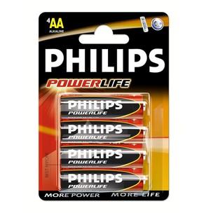 Philips AA Powerlife Battery (set Of 4)