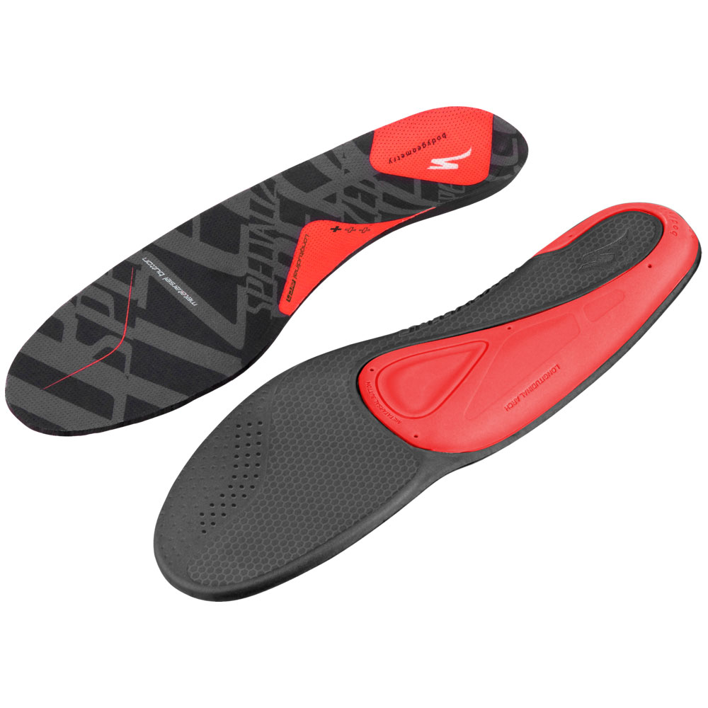 Specialized BG SL Footbed Red Insoles