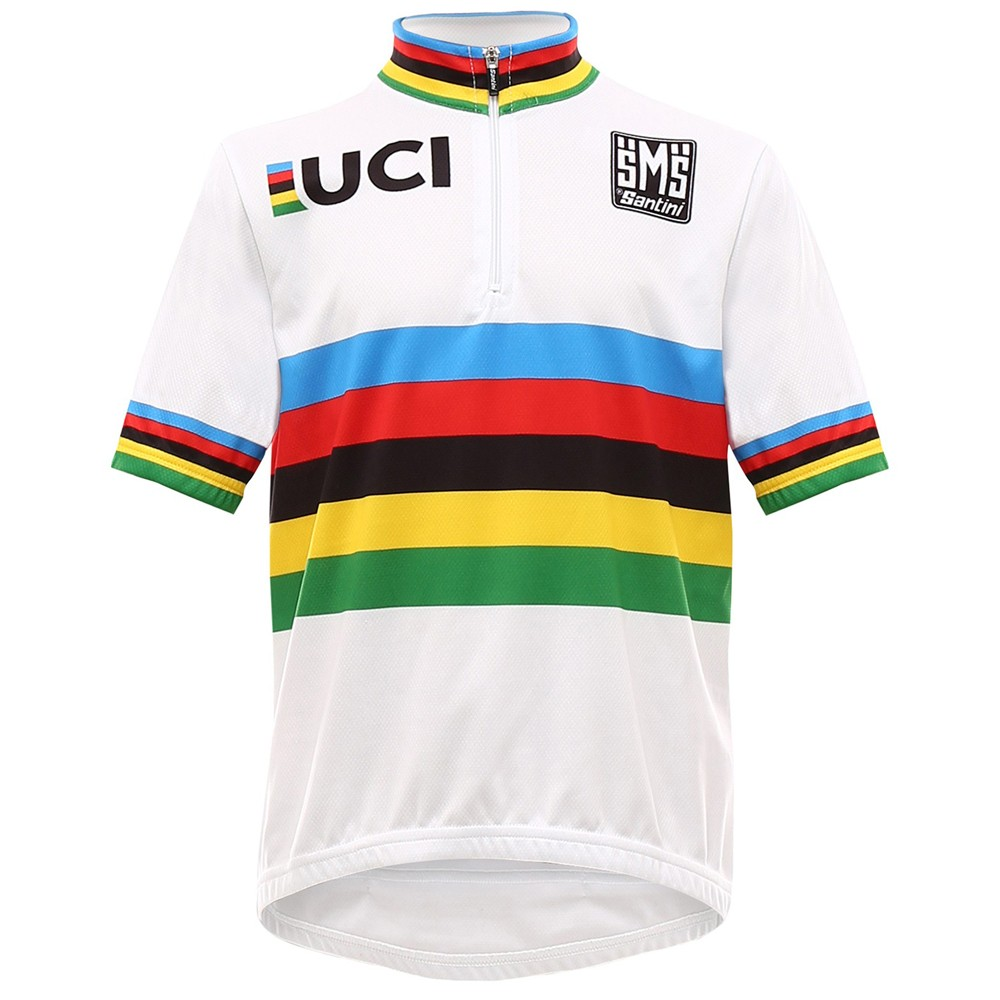 Santini UCI Collection Rainbow Kids Short Sleeve Jersey