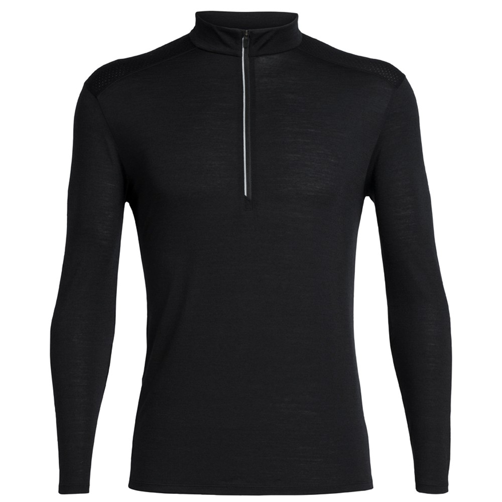 Icebreaker Amplify Half Zip Long Sleeve Running Top