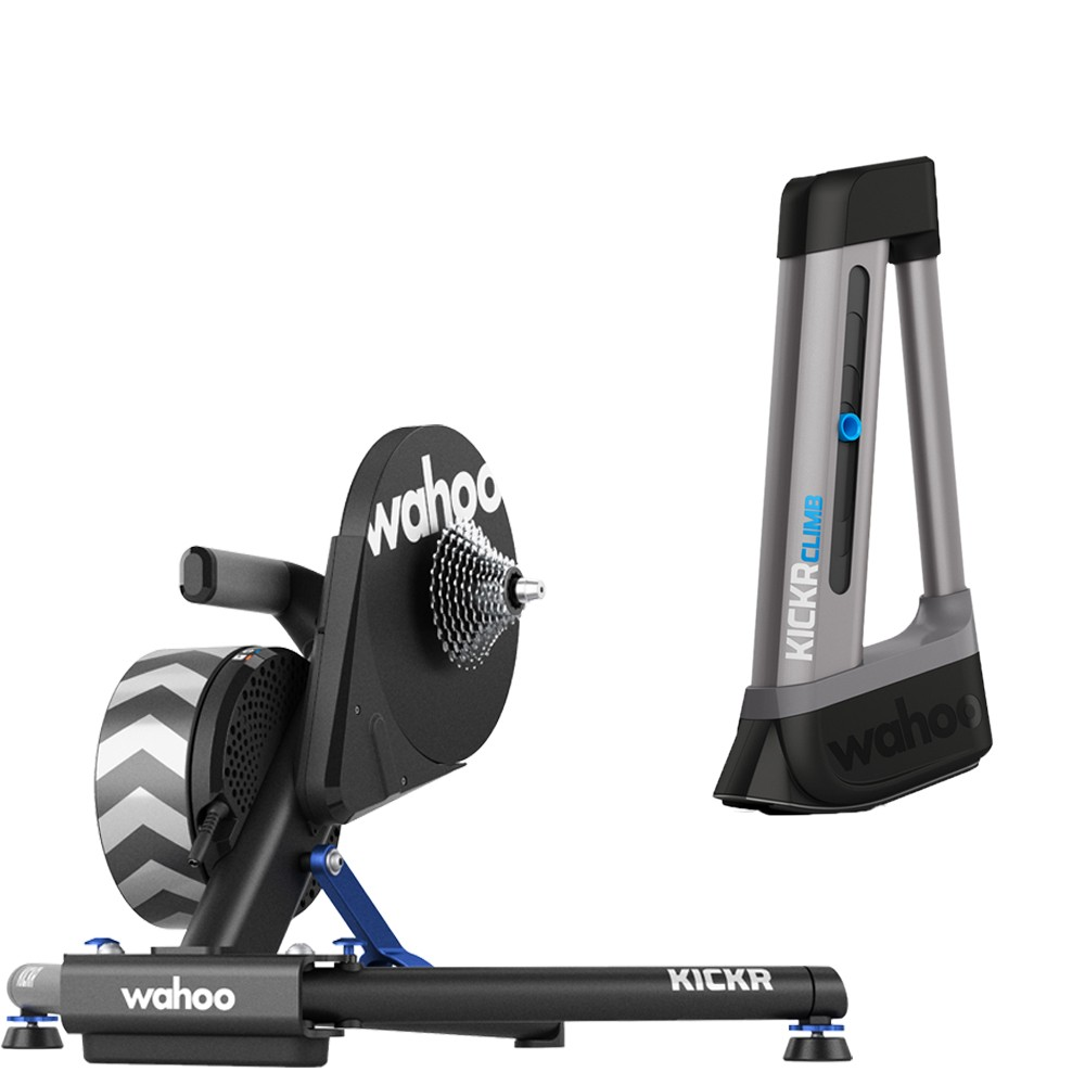 Wahoo KICKR Smart Turbo Trainer + KICKR CLIMB Grade Simulator KOM Bundle